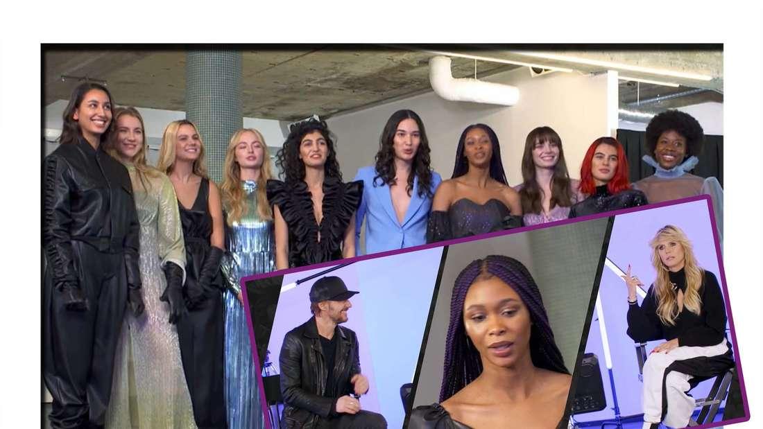Fotomontage: Heidi Klum und Thomas Hayo beobachten heimlich das Casting der GNTM-Mädchen bei Kilian Kerner