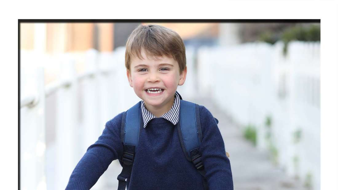 Prinz Louis von Cambridge fährt Fahrrad