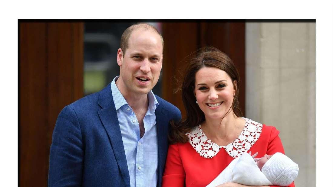 Herzogin Kate und Prinz William bei der Geburt ihres dritten Kindes, Prinz Louis