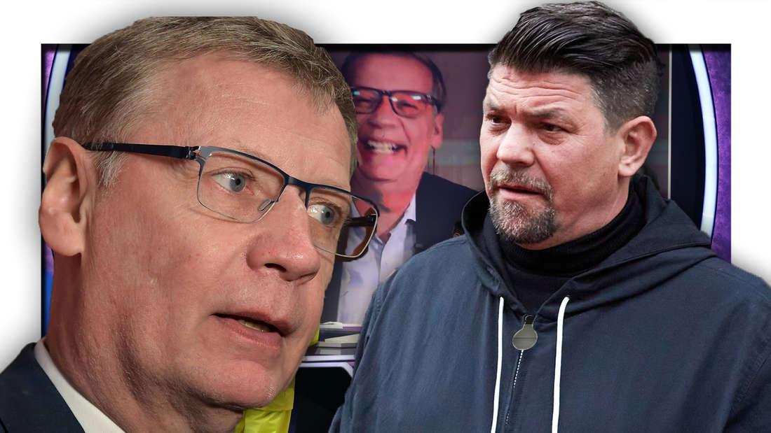 Günther Jauch und Tim Melzer (Fotomontage)