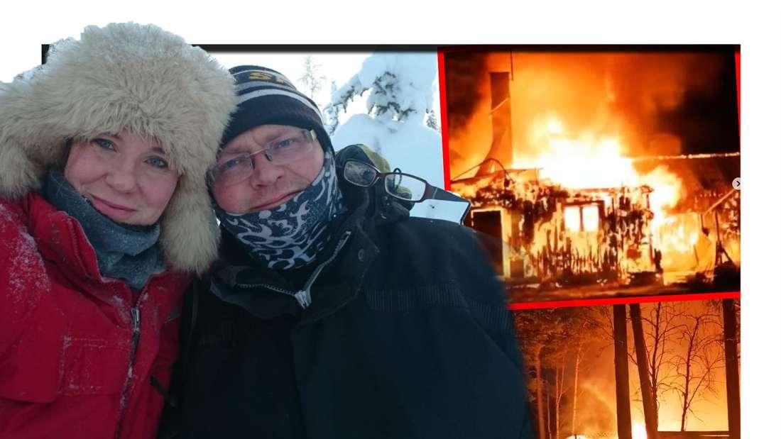 """Die """"Goodbye Deutschland""""-Auswanderer Torben und Monika haben durch ein Feuer alles verloren. (Fotomontage)"""