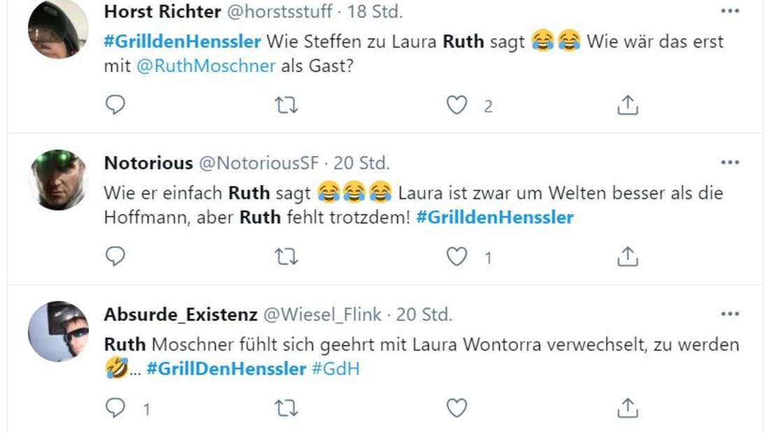 Twitter-Kommentare zu Steffen Hensslers Verwechslung