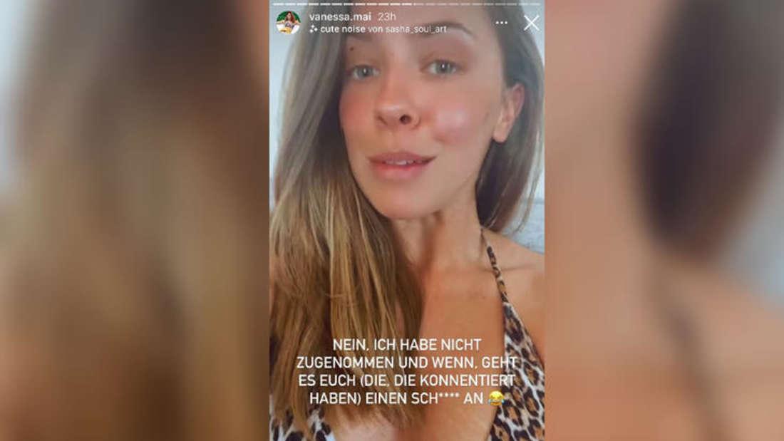 Schlagersängerin Vanessa Mai wehrt sich in ihrer Instagram-Story gegen übergriffe Fragen zu ihrem Gewicht