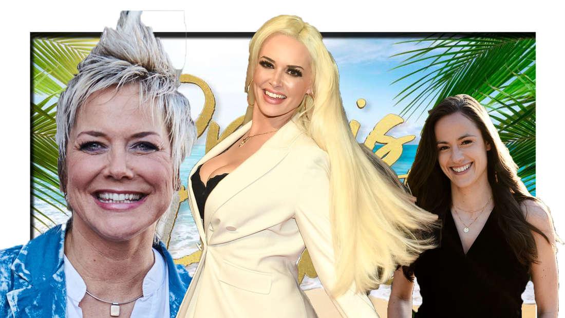 """Inka Bause, Daniela Katzenberger und die """"Princess Charming""""-Kandidatin grinsen in die Kamera (Fotomontage)."""