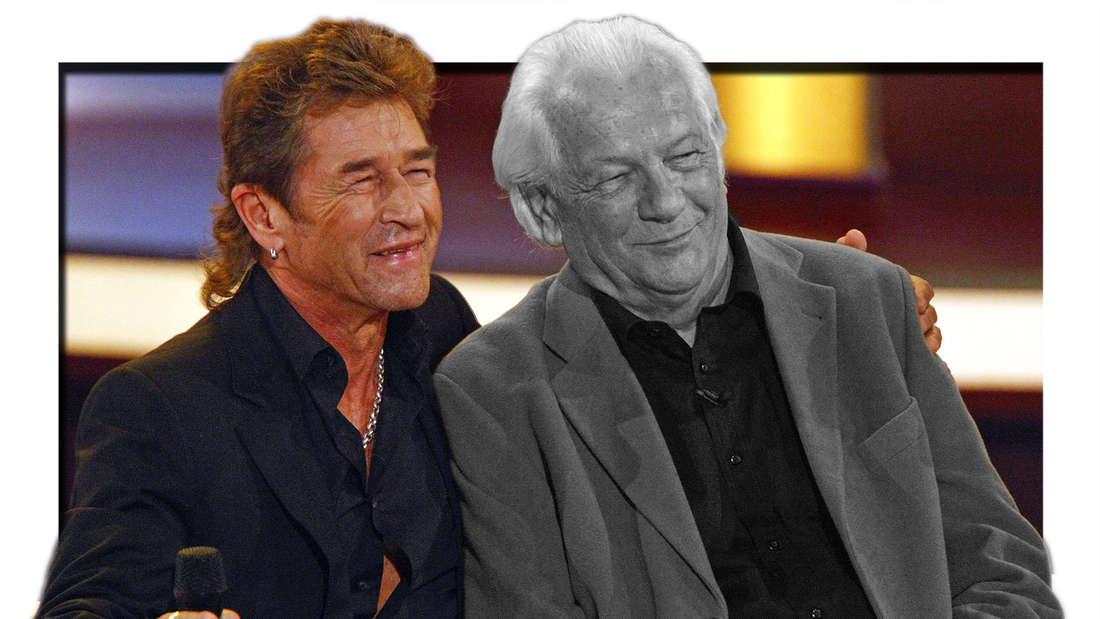 """Peter Maffay mit seinem Vater Wilhelm Makkay anlässlich der ZDF-Fernsehshow """"Willkommen bei Carmen Nebel"""" am 25.10.2008 in Dortmund. (Fotomontage)"""