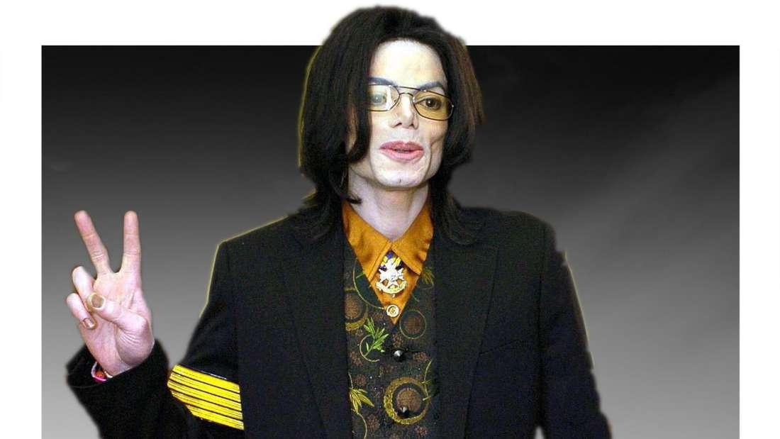 Michael Jackson vor einer dunklen Nebelwand. (Fotomontage)