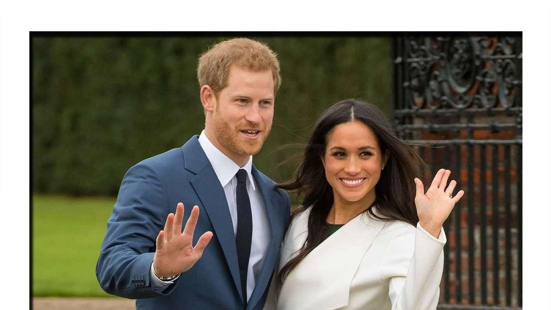 Meghan Markle und Prinz Harry bei ihrer Verlobung
