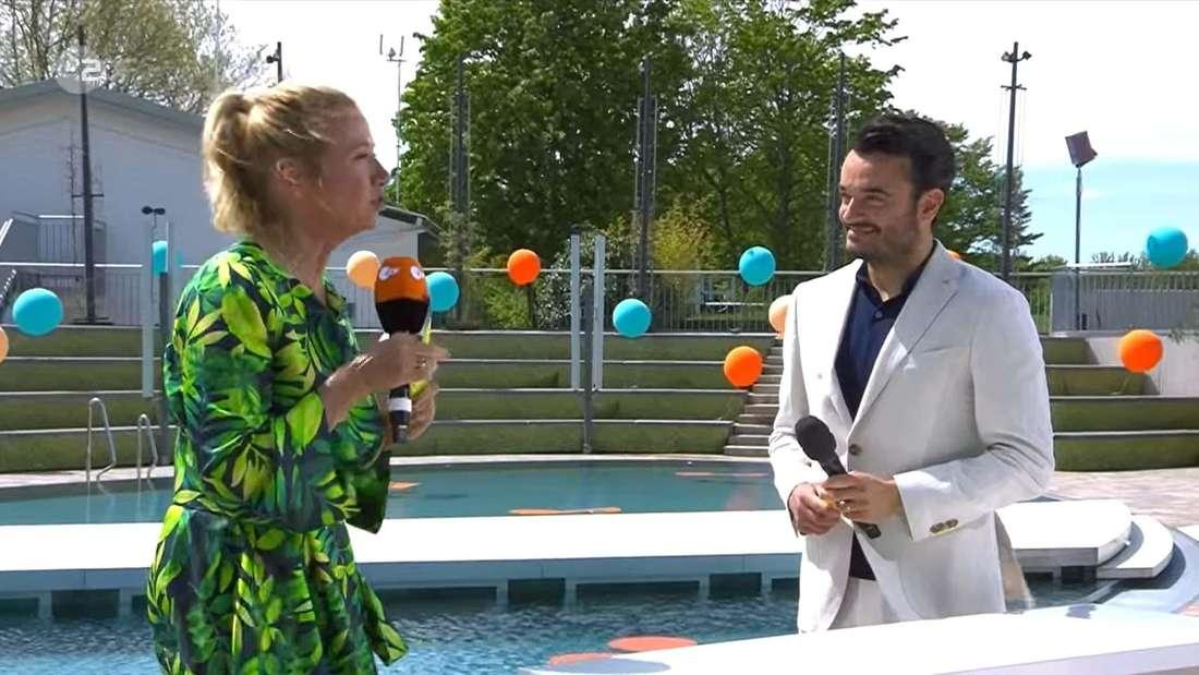 Andrea Kiewel und Giovanni Zarrella beim ZDF-Fernsehgarten