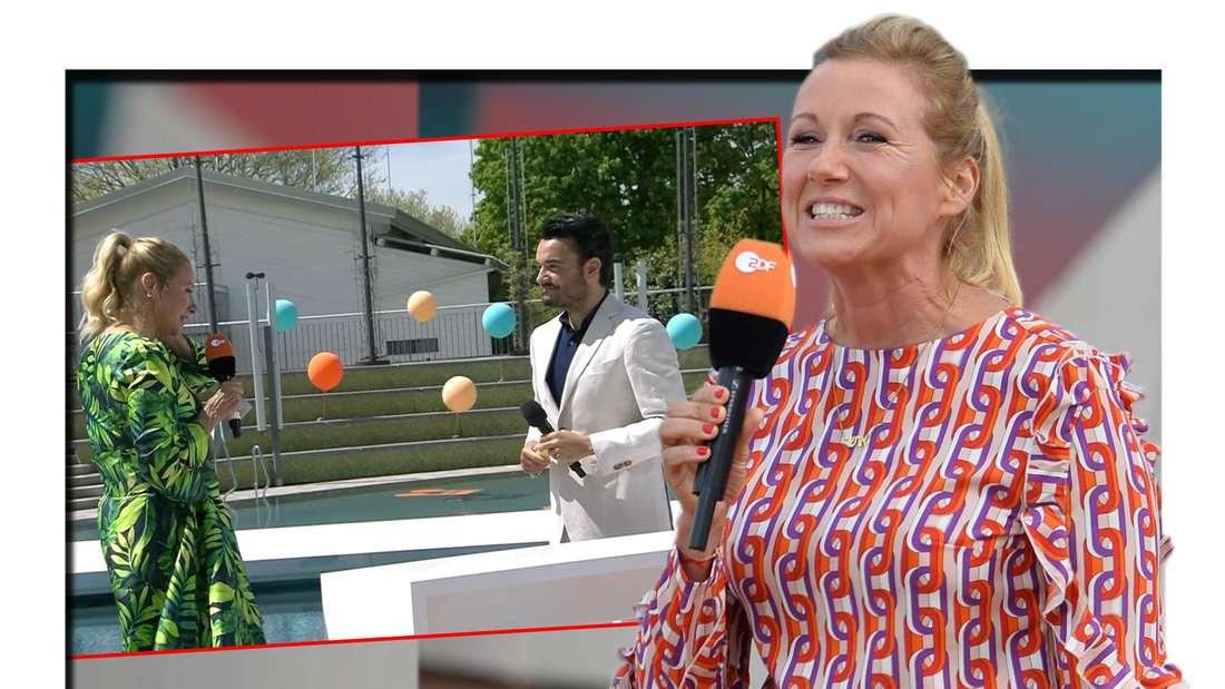 ZDF-Fernsehgarten: Andrea Kiewel gratulierte ihrer Mutter per WhatsApp zum Muttertag. (Fotomontage)