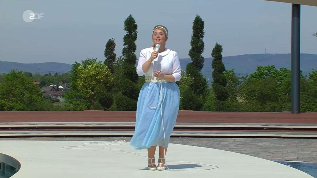 Maite Kelly steht am Sonntag (9.Mai) auf der ZDF-Fernsehgarten-Bühne.