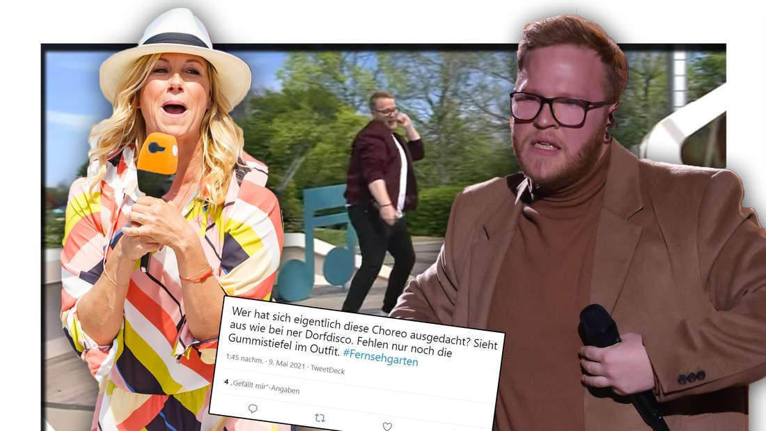 """""""Wie auf dem Dorf-Fest"""": Fernsehgarten-Zuschauer dissen DSDS-Sieger Jan-Marten Block (Fotomontage)"""