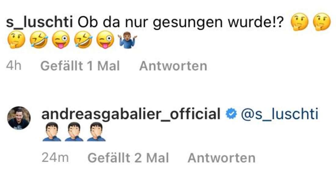 Andreas Gabalier antwortet auf den Kommentar eines Fans
