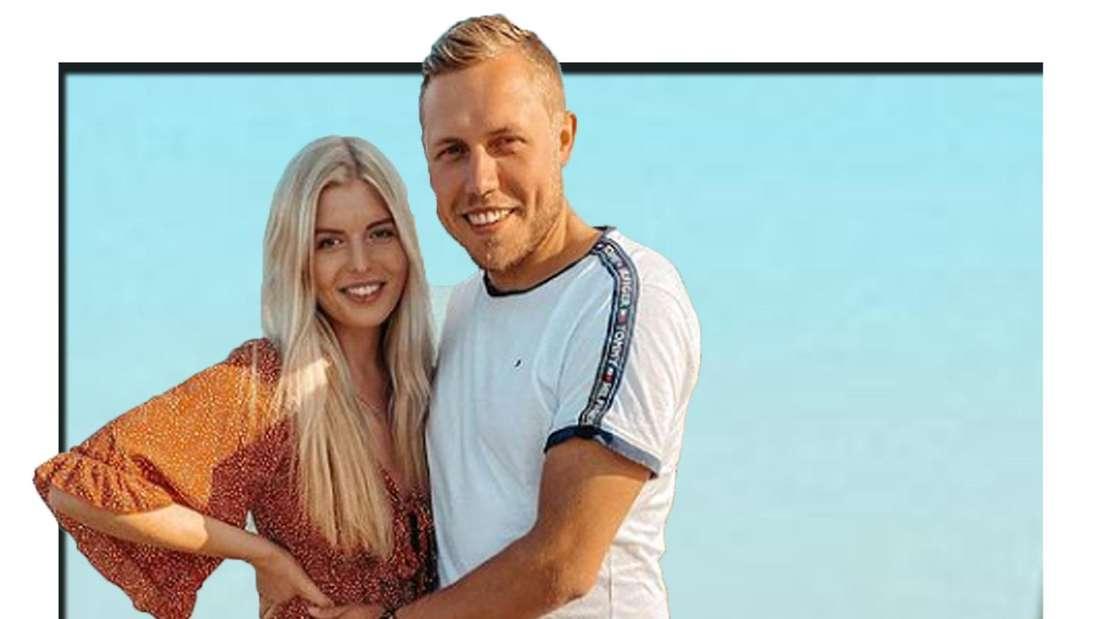 Antonia und Patrick lächeln in die Kamera (Fotomontage)