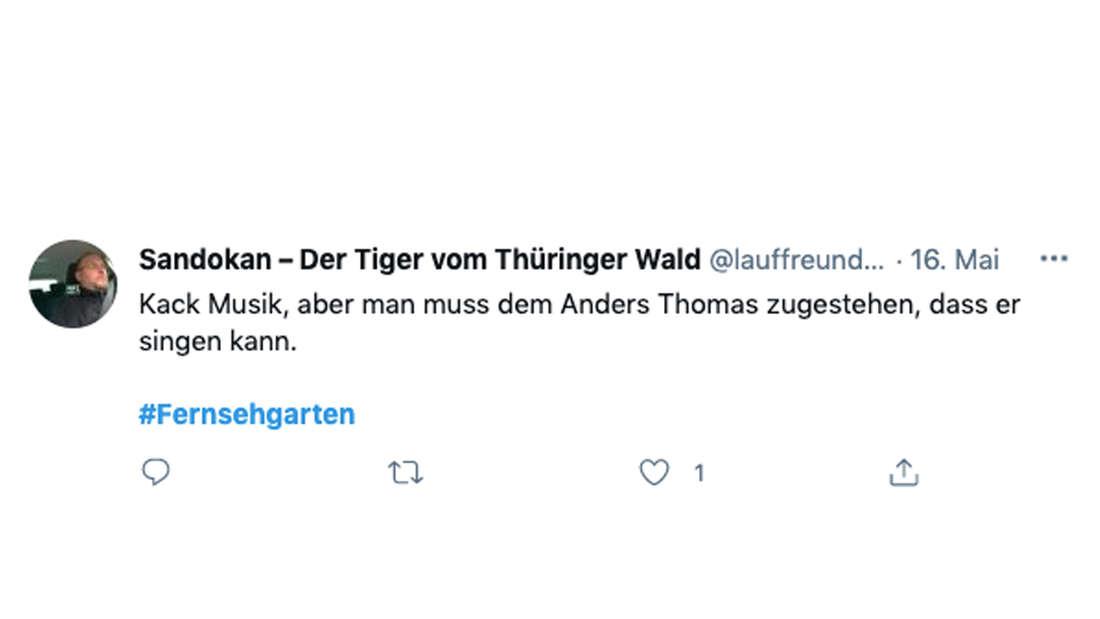 """Twitter-Nutzer """"Sandokan"""" macht sich über Thomas Anders und Florian Silbereisen im ZDF-Fernsehgarten lustig"""