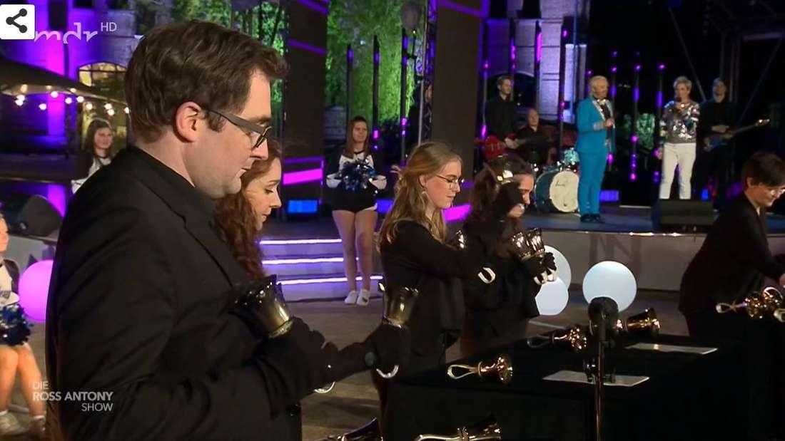 Glockenspiel bei der Ross Antony Show