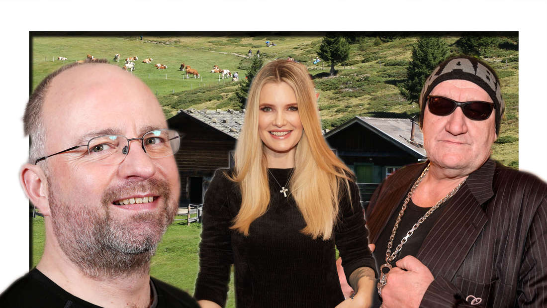 """DIe Kandidat:inne der Sendung """"Die Alm: Christian Lohse, Mirja du Mont und Eddy Kante"""