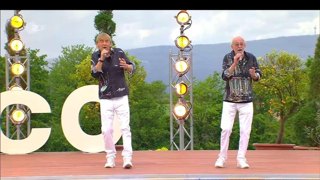 Die Amigos (Bernd Ulrich und Karl-Heinz Ulrich) am 23. Mai 2021 zu Gast im ZDF-Fernsehgarten