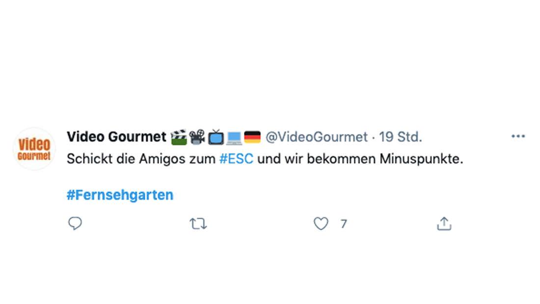 Tweet zum ZDF-Fernsehgarten vom 23. Mai 2020 zum Auftritt der Amigos