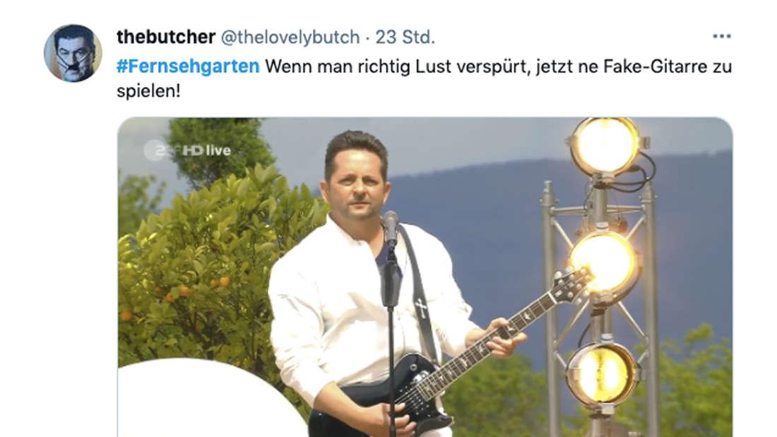 Tweet zum ZDF-Fernsehgarten vom 23. Mai 2020 zum Auftritt von Fantasy