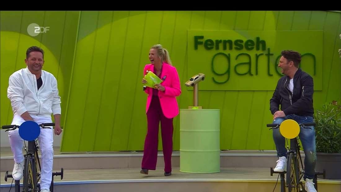 Fantasy (Martin Heinund Freddy März) am 23. Mai 2021 mit Andrea Kiewel im ZDF-Fernsehgarten