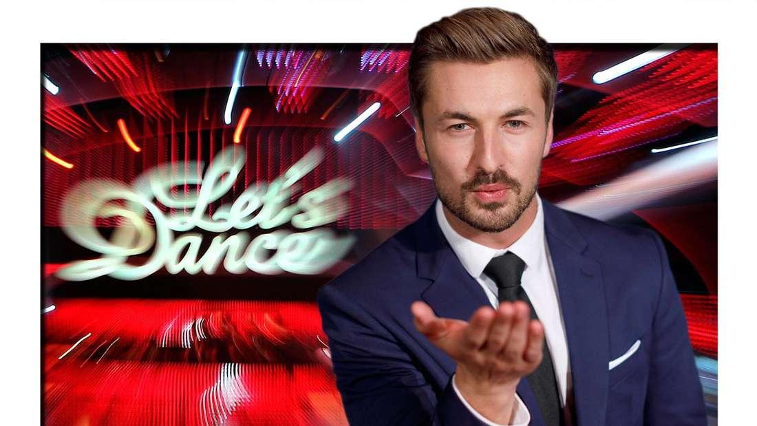 Fotomontage: Nicolas Puschmann vor Let's Dance Bühne