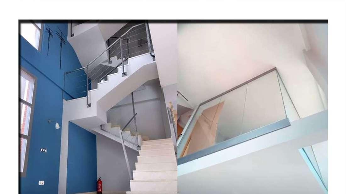 Fotomontage: zwei Stockwerke der neuen Wohnung von Emmy Russ