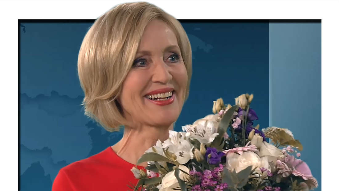 "Fotomontage: Petra Gerster in ihrer letzten ""heute""-Sendung am 26.Mai"