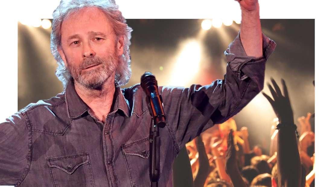 Wolfgang Petry, im Hintergrund Konzertbesucher. (Fotomontage)
