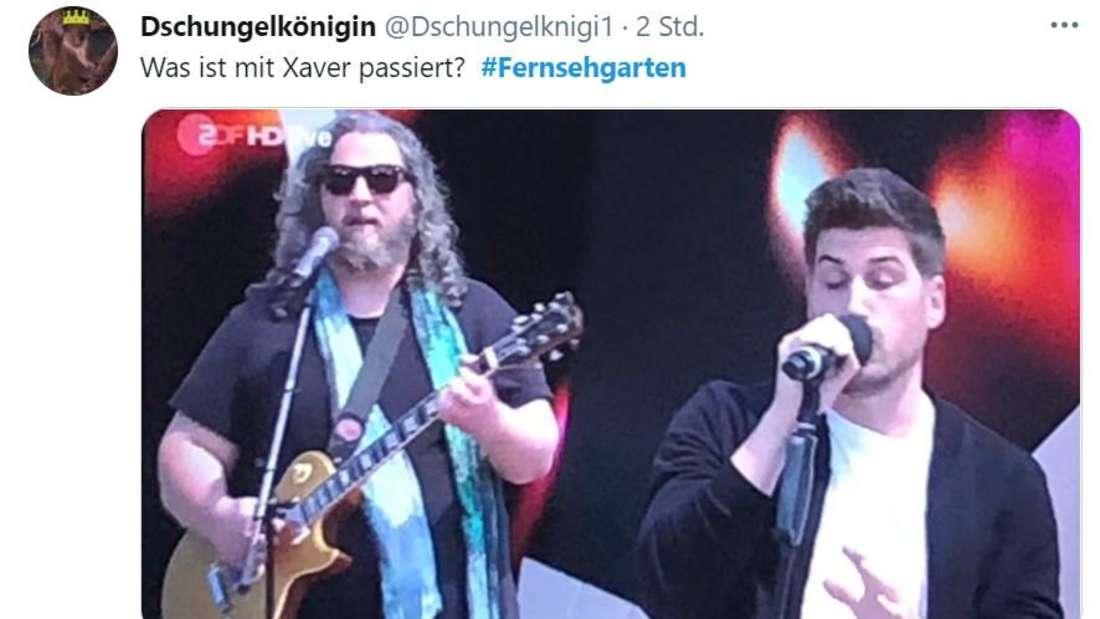 Twitter Screenshot des Live-Auftritts der Söhne Mannheims
