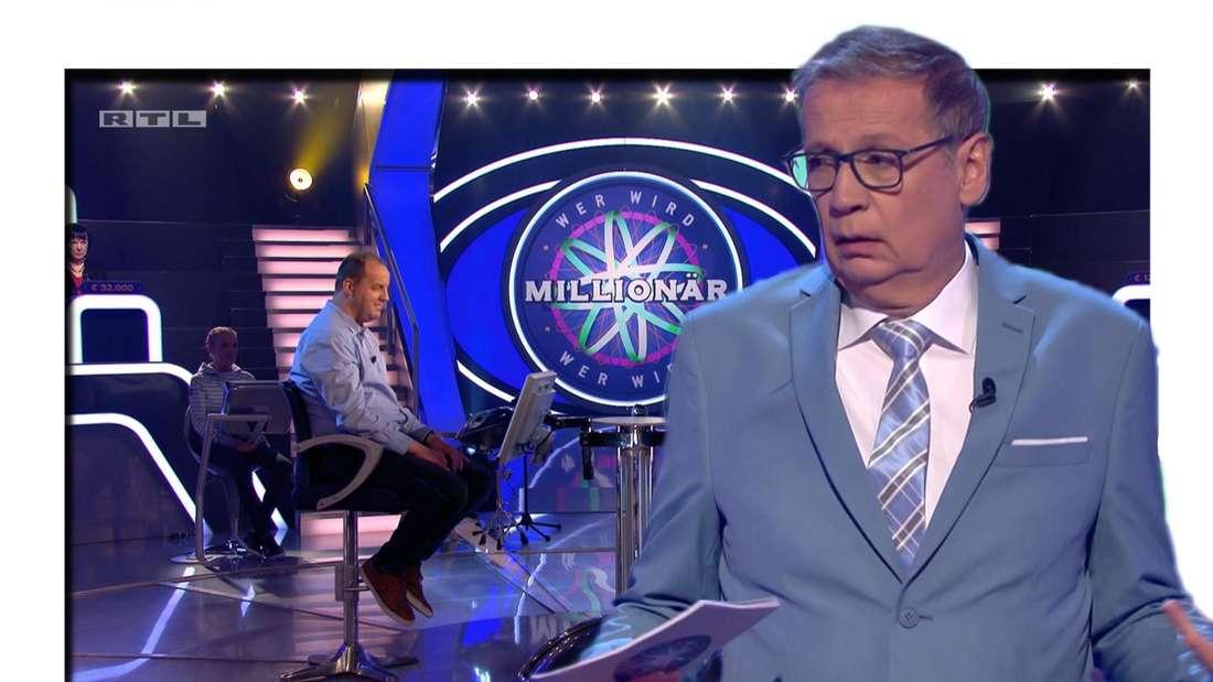 """Günther Jauch lief einen Kandidat bei """"Wer wird Millionär"""" (RTL) auflaufen. (Fotomontage)"""