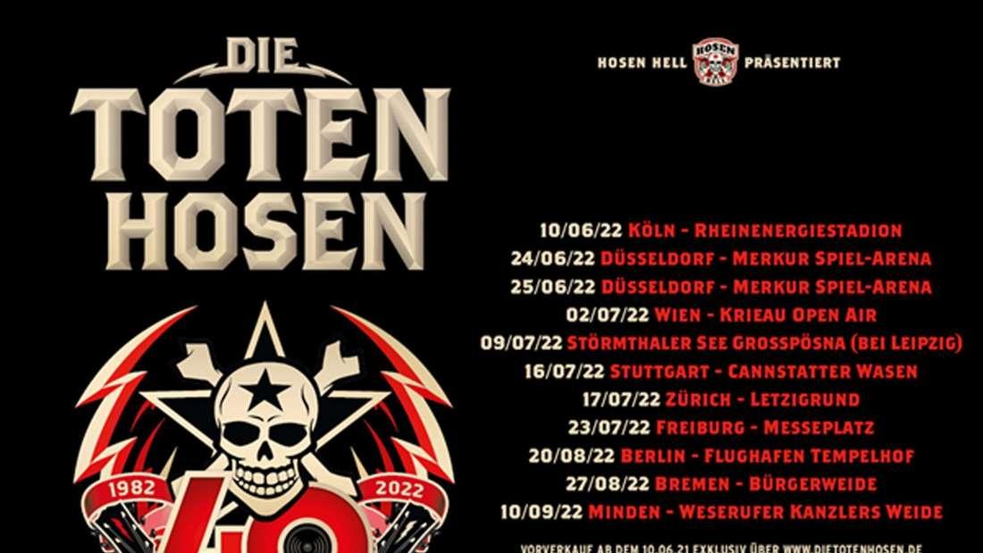 Tourplakat zur Jubiläumstour von Die Toten Hosen anlässlich des 40-jährigen Geburtstags der Düsseldorfer Band