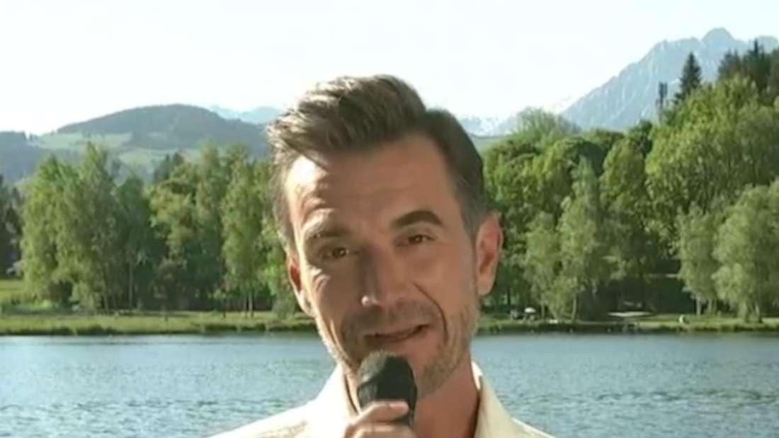 Florian Silbereisen begrüßt sie Zuschauer seiner Show
