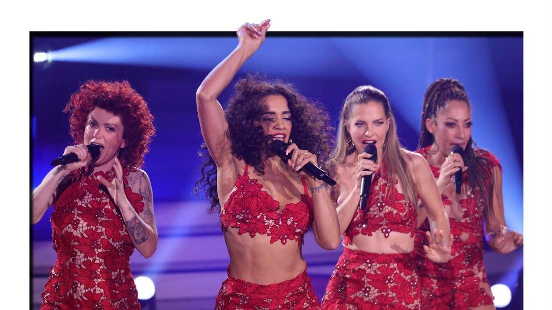"""No Angels treten im Finale der 14. Staffel der RTL Tanzshow """"Let's Dance"""" (RTL) auf (Fotomontage)"""