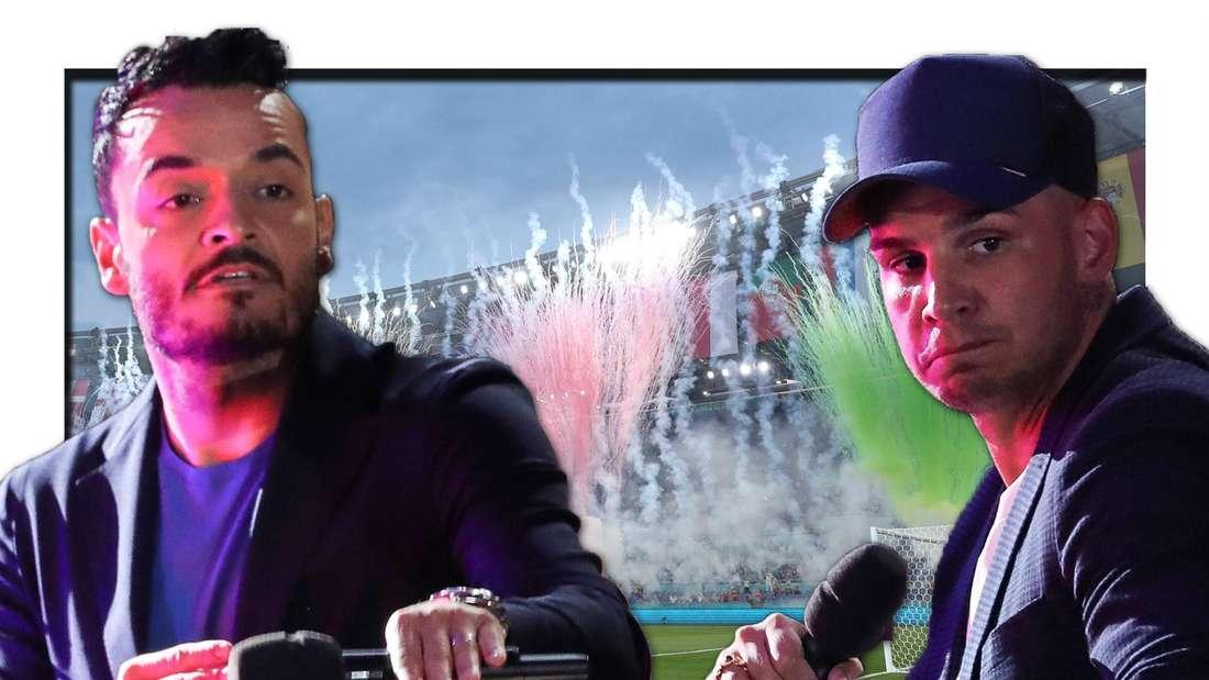 EM-Traum geplatzt: Giovanni Zarrella und Pietro Lombardi dürfen nicht zum Fußball (Fotomontage)
