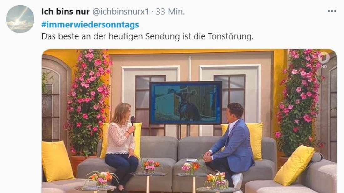 """""""Immer wieder sonntags"""": Zuschauer hören Knattern und Rauschen, statt Musik"""