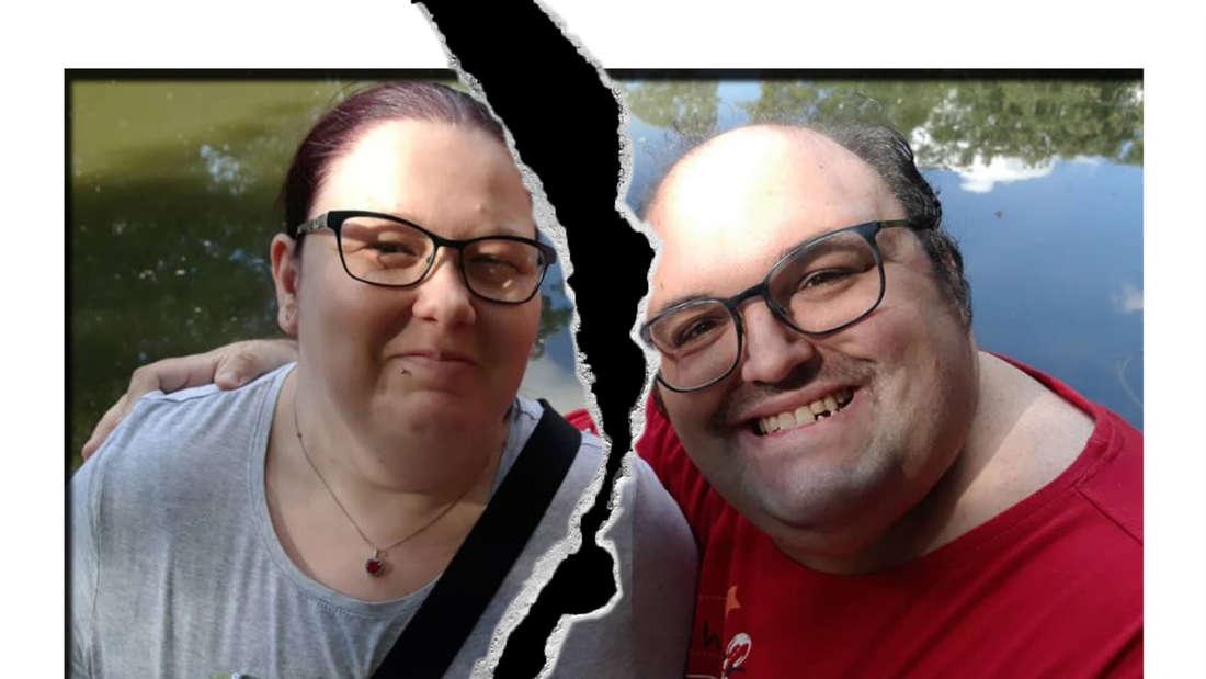 Fotomontage: Ingo und Annika mit Trennungsriss