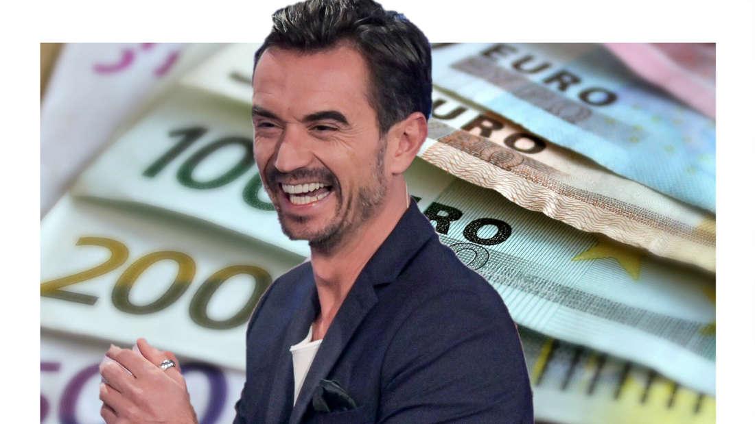 Florian Silbereisen vor etlichen Euro-Scheinen. (Fotomontage)
