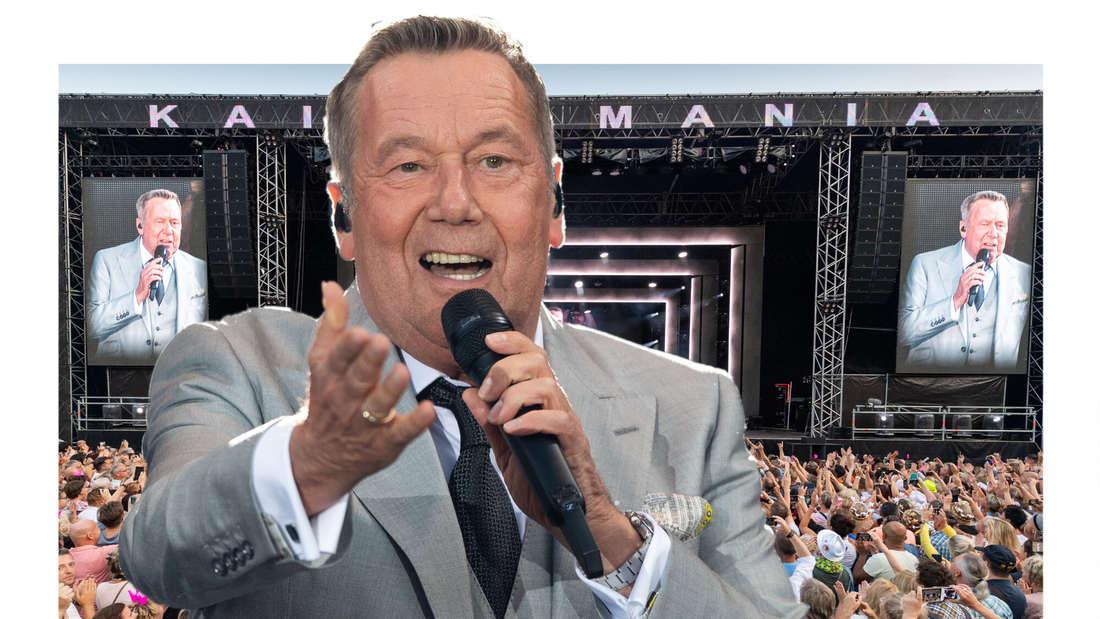Roland Kaiser vor der Bühne der Kaisermania (Fotomontage)