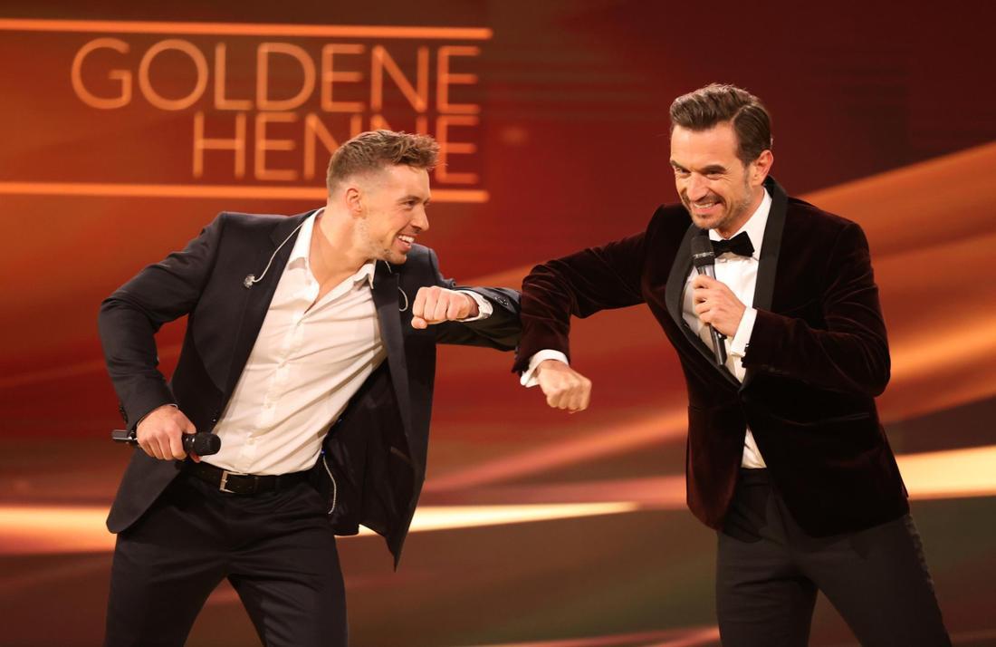 """Ramon Roselly und Florian Silbereisen bei der Verleihung """"Goldene Henne"""""""