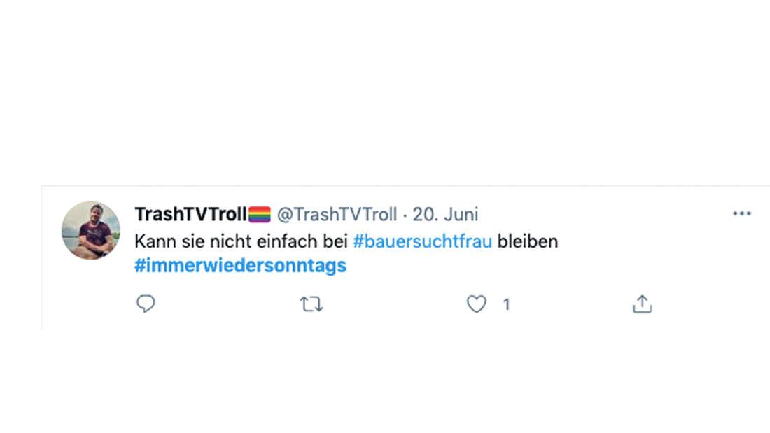 """Tweet zur zweiten Folge von """"Immer wieder sonntags"""" mit Stefan Mross. Ein Fan zerlegt den Auftritt von Inka Bause"""