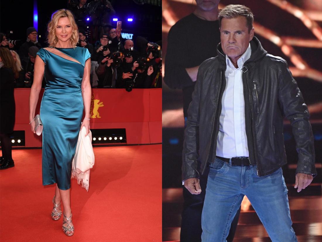 Schauspieler Veronica Ferres und Poptitan Dieter Bohlen