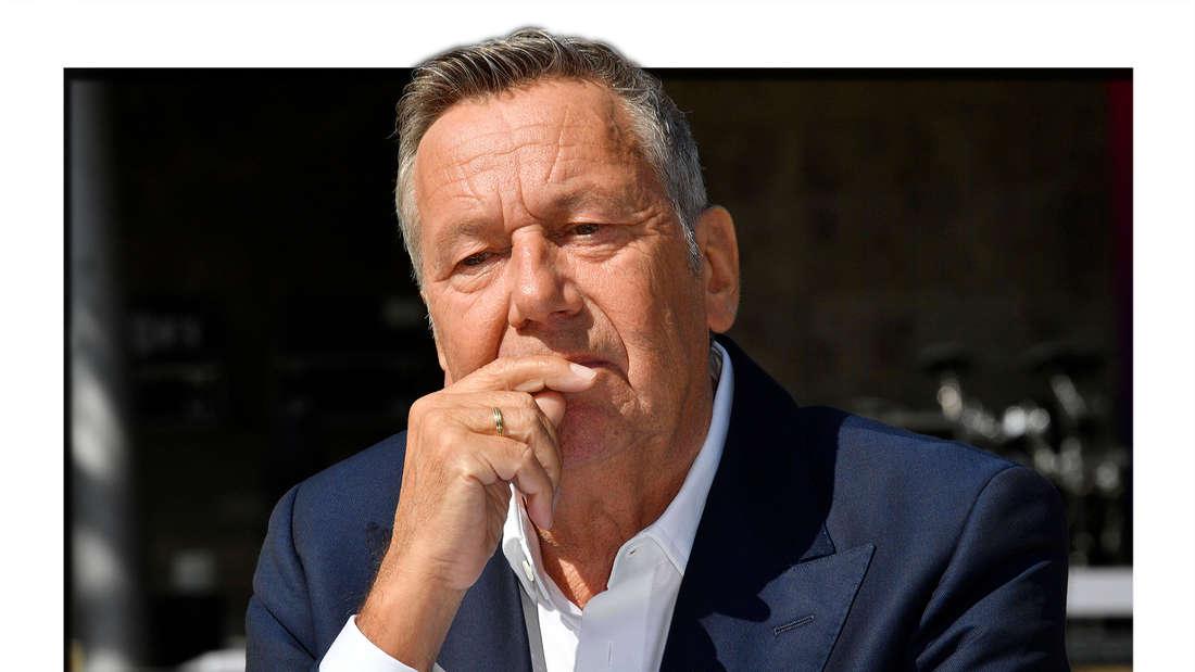 Roland Kaiser beim Pressetermin zur Konzertreihe Back to Live in der Waldbühne Berlin. Berlin, 03.09.2020. (Fotomontage)
