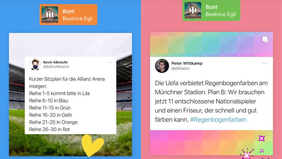 Beatrice Egli repostet zwei Tweets bezüglich der UEFA und dem Spiel Deutschland gegen Ungarn