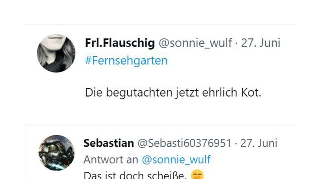 Screenshots von Twitter