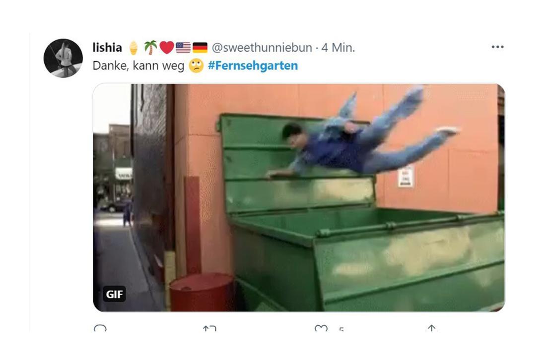 Ein Tweet als Reaktion auf Iggi Kellys neuen Song und seinen Auftritt im ZDF-Fernsehgarten am 27. Juni 2021