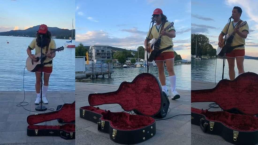 Andreas Gabalier gibt als Forrest Gump verkleidet ein Konzert am Wörthersee