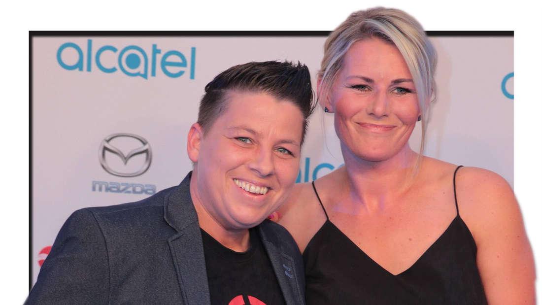 Kerstin Ott und Karolina Köppen zu Gast bei der Alcatel Entertainment Night am 01.09.2017 in Berlin (Fotomontage)