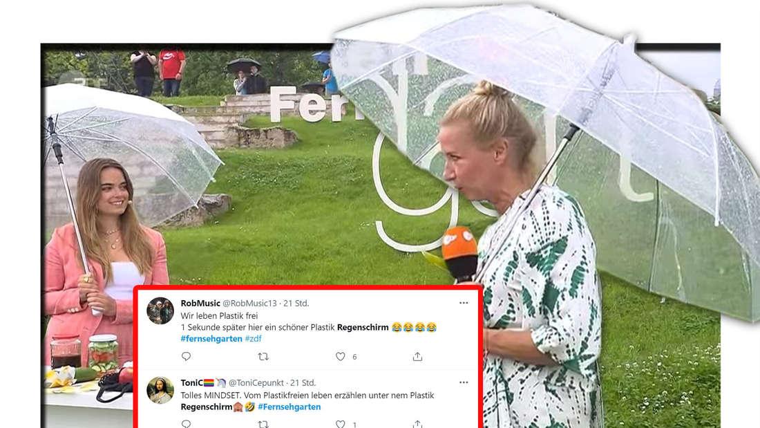 Fotomontage: Andrea Kiewel und Charlotte Schüler im ZDF-Fernsehgarten