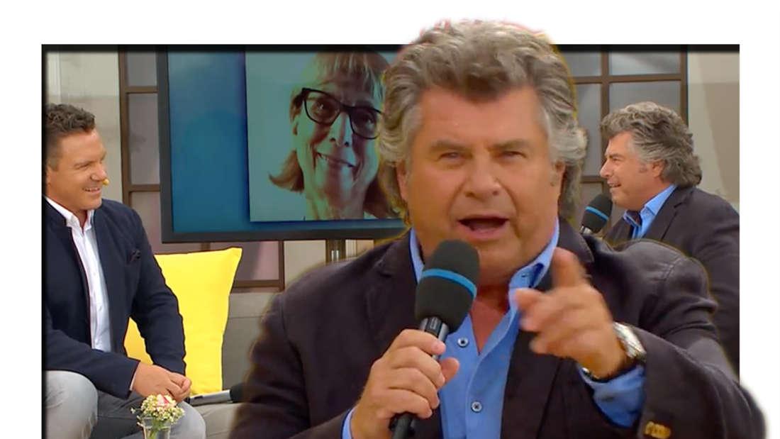 """Stefan Mross und Andy Borg erinnern im """"Legenden-Talk"""" an Peter Alexander. Und: Peter-Alexander-Fan Angelika erzählt, wie sie ihre Autogrammkarte bekommen hat (Fotomontage)"""