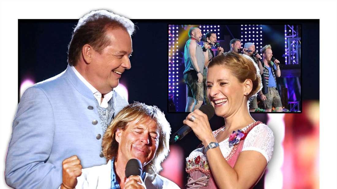 Wenn die Musi spielt: Hansi Hinterseer und voxxblub bei Stefanie Hertel zu Gast (fotomontage)